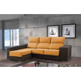 Chaise longue de 2,80m Mac-Polar con cabezales reclinables